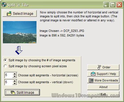 Split and Tile Image Splitter 2 11c Free download